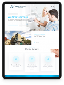 TrafficHub Digital Marketing & Lead Generation Brisbane - We Create Smiles Website iPad