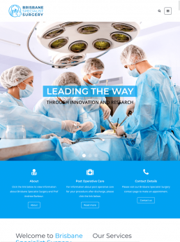 TrafficHub Digital Marketing & Lead Generation Brisbane - Brisbane Specialist Surgery Website iPad