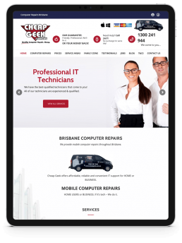 TrafficHub Digital Marketing & Lead Generation Brisbane - Cheap Geek Website iPad